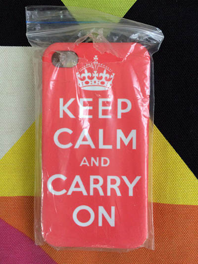 Фото Чехол для iPhone 4/4S Keep calm and carry on
