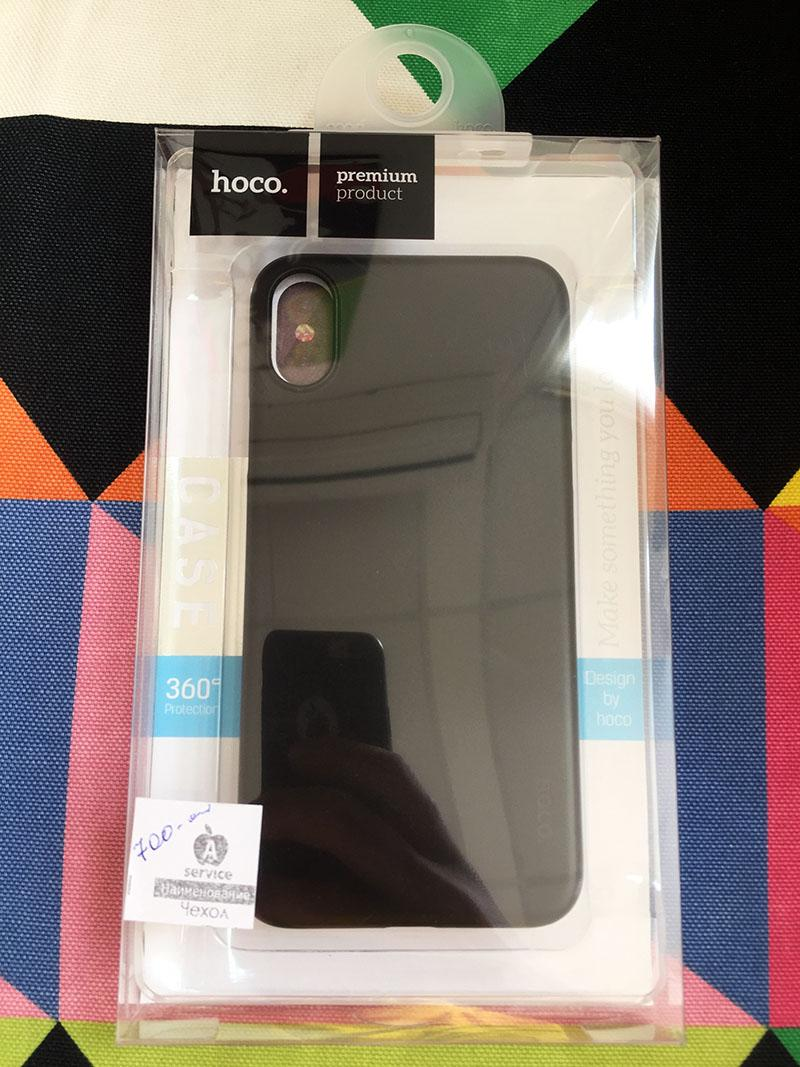 Фото Чехол для iPhone X Hoco premium black