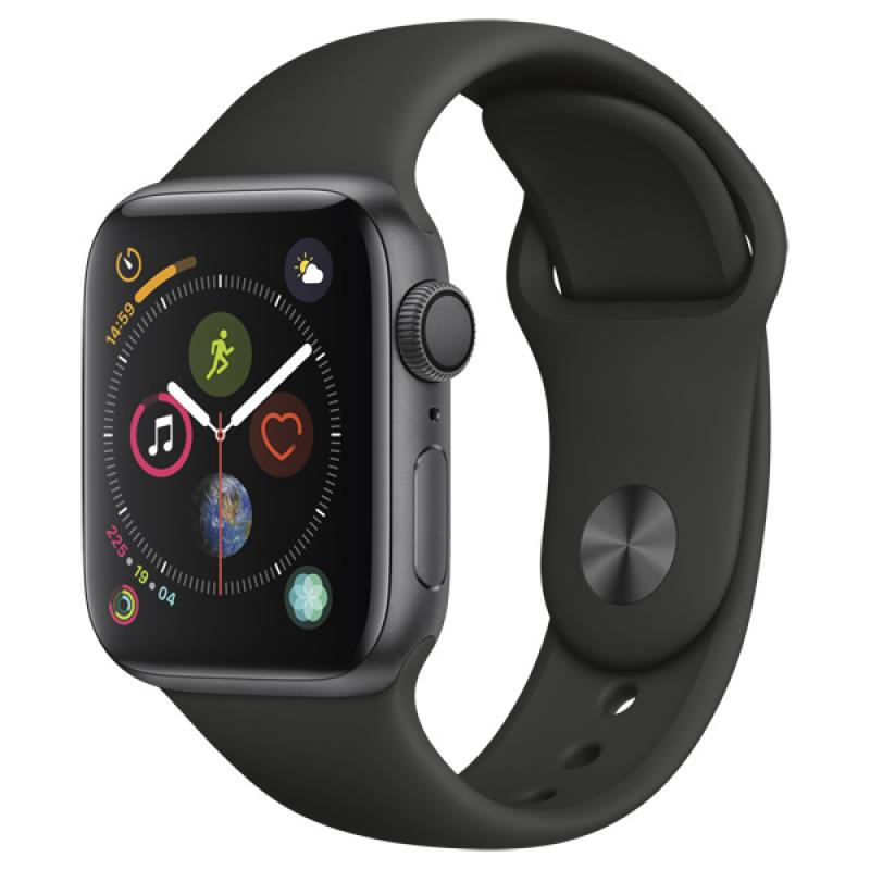 Фото Apple Watch S4 Sport 40mm Space Gray Al + Black Sport Band