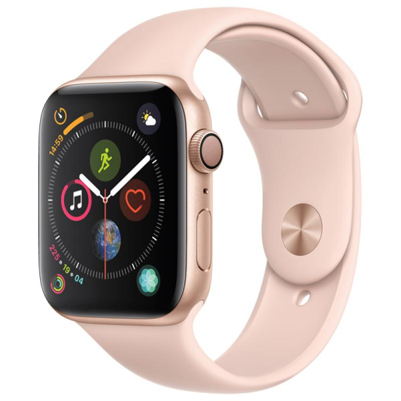 Фото Apple Watch S4 Sport 44mm Gold Al + Pink Sand Sport Band