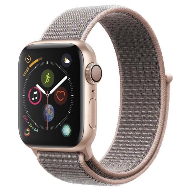 Фото Apple Watch S4 Sport 44mm Gold Al + Pink Sand Sport Loop