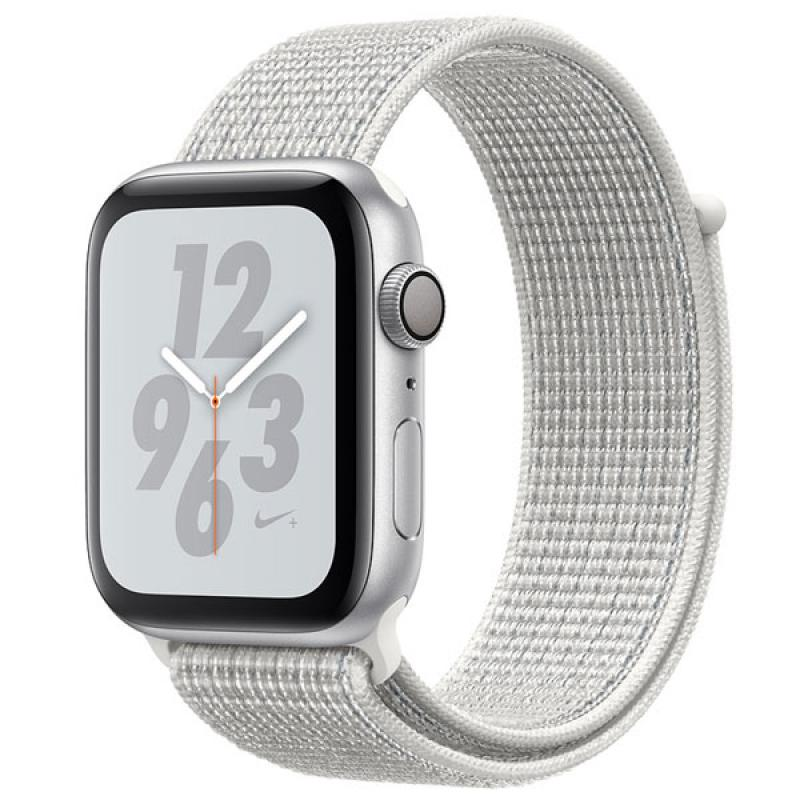 Фото Apple Watch S4 44mm Silver Al + White Sport Loop
